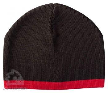 Шапка «Leader», черная с красным