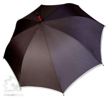 Зонт-трость «Unit Reflect», полуавтомат, черный