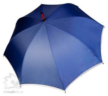 Зонт-трость «Unit Reflect», полуавтомат, дизайн купола