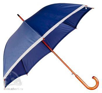 Зонт-трость «Unit Reflect», полуавтомат, синий