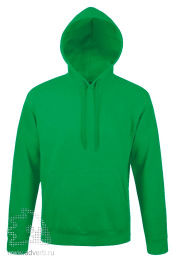 Толстовка с капюшоном «Snake 280», мужская, Sol's, Франция, ярко-зеленая