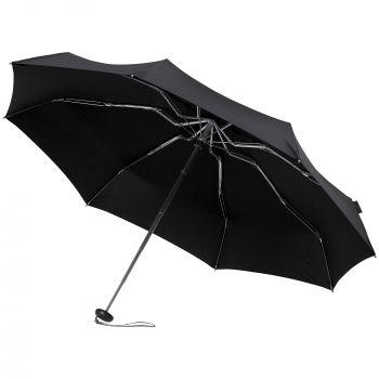 Зонт складной «811 X1», черный, в раскрытом виде