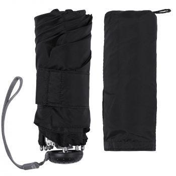 Зонт складной «811 X1», черный, с чехлом