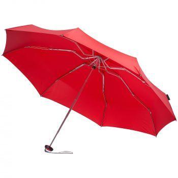 Зонт складной «811 X1», красный, в раскрытом виде