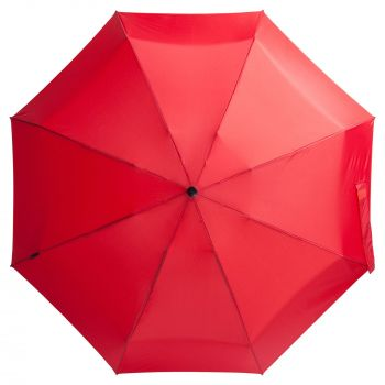 Зонт складной «811 X1», красный, вид сверху