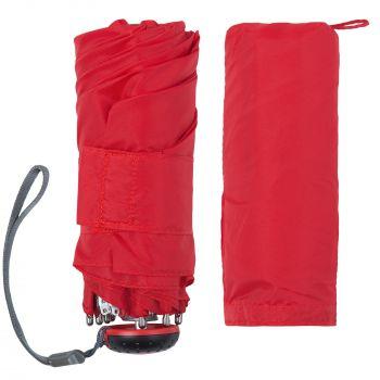 Зонт складной «811 X1», красный, с чехлом