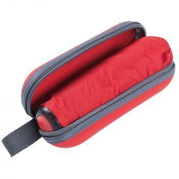 Зонт складной «811 X1», красный, в открытом футляре