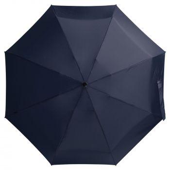 Зонт складной «811 X1», синий, вид сверху