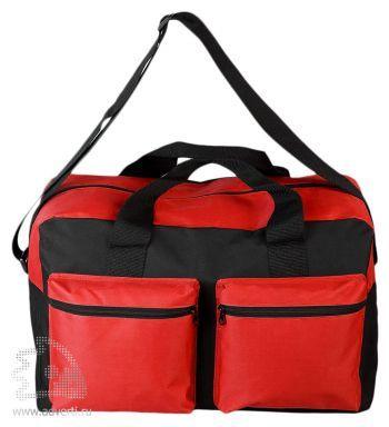 Дорожная сумка «Double pocket», красная