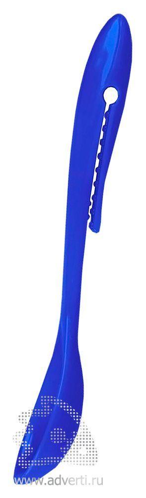 Ложка с клипом, синяя