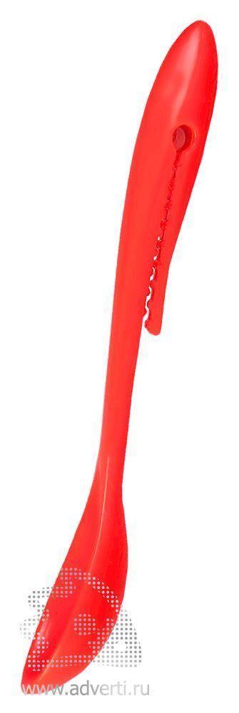 Ложка с клипом, красная