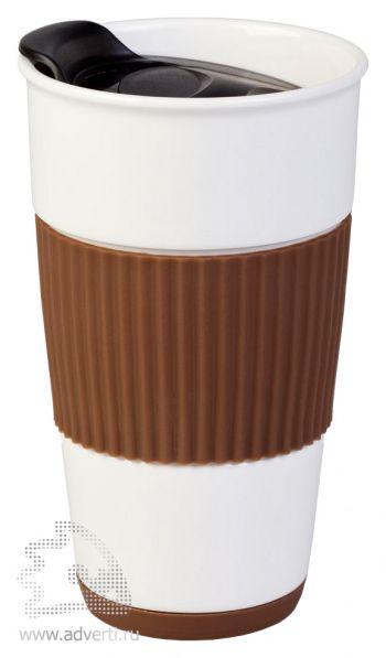 Кружка «To go» коричневая