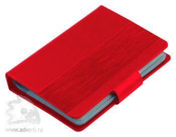 Визитница «Office» (40 визиток), красная