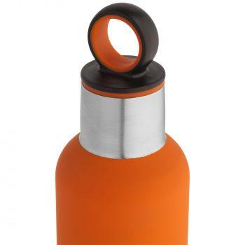 Термобутылка «Sherp», оранжевая, крышка