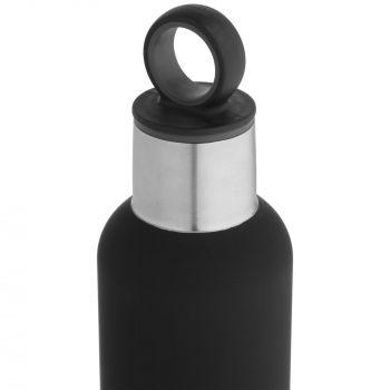 Термобутылка «Sherp», чёрная, крышка