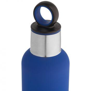 Термобутылка «Sherp», синяя, крышка