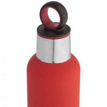 Термобутылка «Sherp», красная, крышка