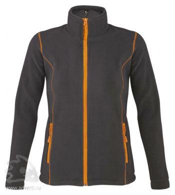 Толстовка «Nova Women 200», женская, темно-серая с оранжевым