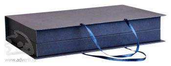Коробка «Блеск» под набор: ежедневник А5 и планинг, синяя