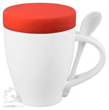 Кружка «Мескит» с силиконовой крышкой, красная