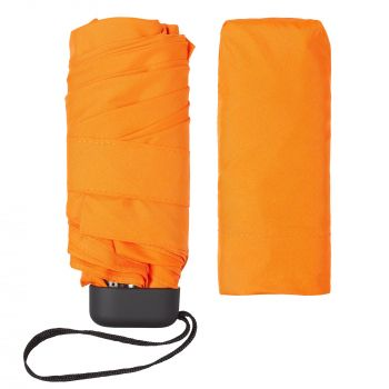 Зонт складной «Unit Five», механический, оранжевый, без чехла