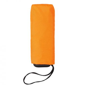 Зонт складной «Unit Five», механический, оранжевый, в чехле
