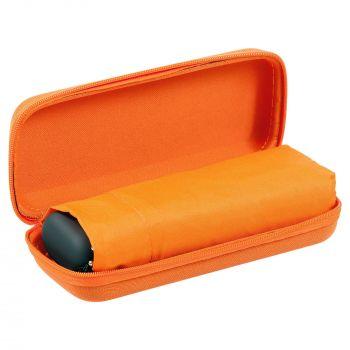 Зонт складной «Unit Five», механический, оранжевый, в чехле, открытый