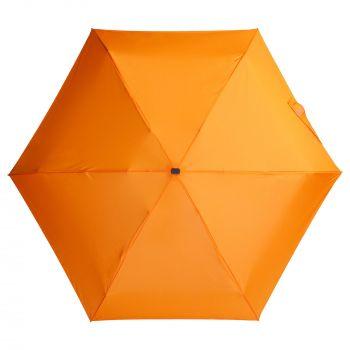 Зонт складной «Unit Five», механический, оранжевый, купол