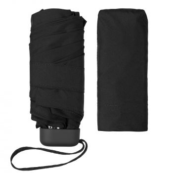 Зонт складной «Unit Five», механический, черный, без чехла