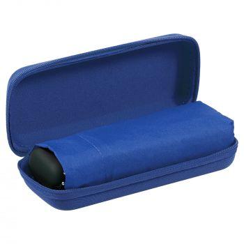 Зонт складной «Unit Five», механический, синий, в чехле открытый