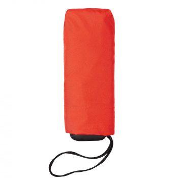 Зонт складной «Unit Five», механический, красный, в сложенном виде