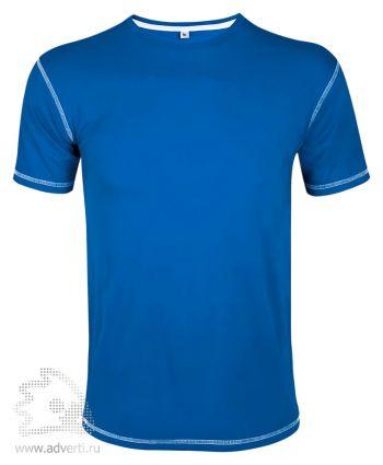 Футболка «MUSTANG 150», мужская с контрастной отделкой, синяя с белой окантовкой