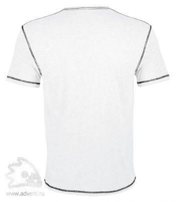 Футболка «MUSTANG 150», мужская с контрастной отделкой, вид спины