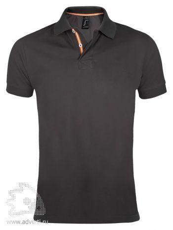 Рубашка поло «Patriot 200» мужская, Sol's, Франция, темно-серая