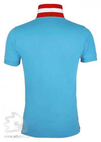 Рубашка поло «Patriot 200» мужская, Sol's, Франция, вид спины