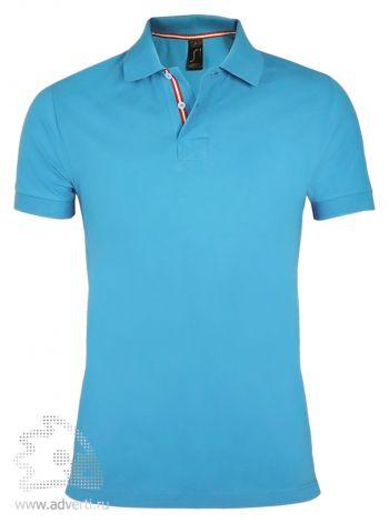Рубашка поло «Patriot 200» мужская, Sol's, Франция, голубая