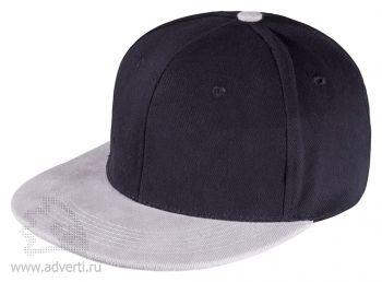 Бейсболка «Unit Heat» с прямым козырьком, двухцветная, черная с черым