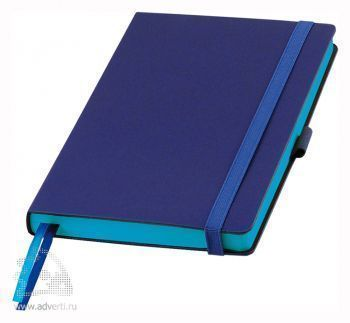 Ежедневник недатированный А5, Portobello Trend Blue Ocean, синий с голубым