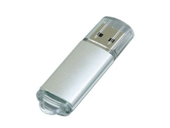 USB-флешка с прозрачным колпачком, серебристая