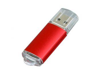 USB-флешка с прозрачным колпачком, красная