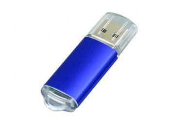 USB-флешка с прозрачным колпачком, синяя