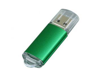 USB-флешка с прозрачным колпачком, зеленая