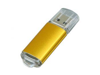 USB-флешка с прозрачным колпачком, золотистая