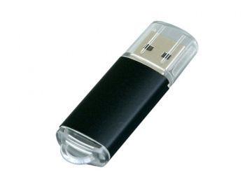 USB-флешка с прозрачным колпачком, черная