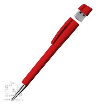 Ручка-флешка «Turnus M» Klio Eterna, красная