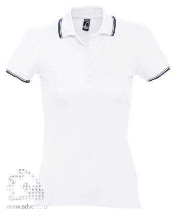 Рубашка поло «Practice Women 270», женская, белая с темно-синим