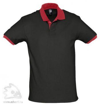 Рубашка поло «Prince 190», мужская, черная с красным