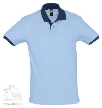 Рубашка поло «Prince 190», мужская, голубая с темно-синим