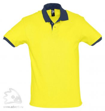 Рубашка поло «Prince 190», мужская, желтая с темно-синим