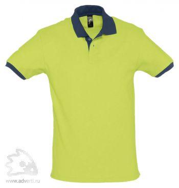 Рубашка поло «Prince 190», мужская, светло-зеленая с темно-синим